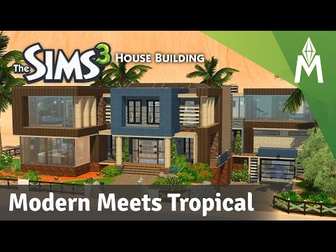 The Sims 3 House Building - Modern Meets Tropical
