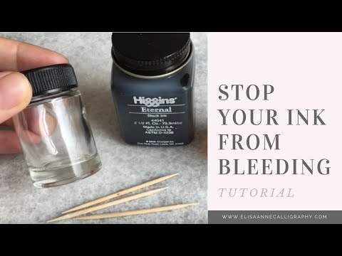 Mixing Gum Arabic With Ink || Calligraphy Tips & Tricks