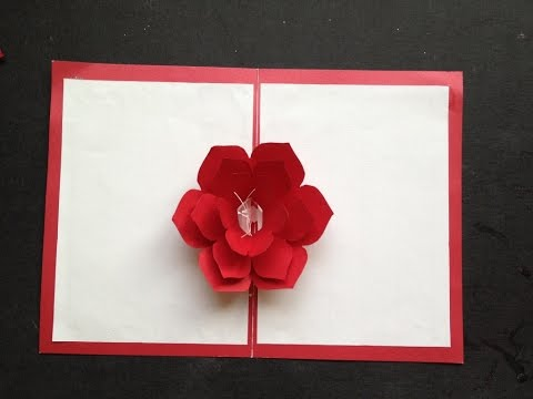 Easy To Make A 3D Flower Pop-Up Paper Card Tutorial & Free Pattern