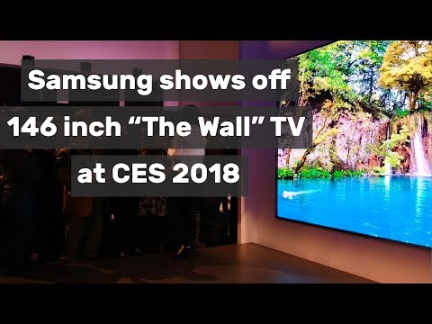 Samsung shows off the 146 inch The Wall TV at CES 2018