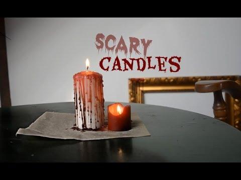 Halloween diy bloody candles and scary apples - Halloween: blutige und gruselige Kerzen [ger]