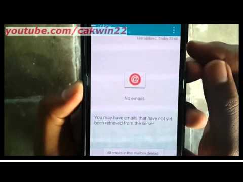 Samsung Galaxy S5 : How to delete emails (Android Phone)