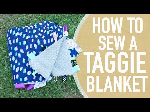 HOW TO MAKE A TAGGIE BABY BLANKET || BETHANY FONTAINE