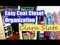 Dollar Tree Organizing | Easy Coat Closet Organization