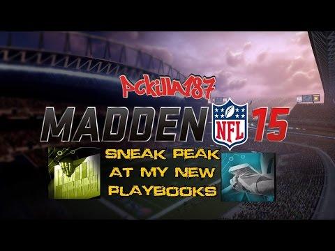 Madden 15 Sneak Peak At My New Custom Playbooks