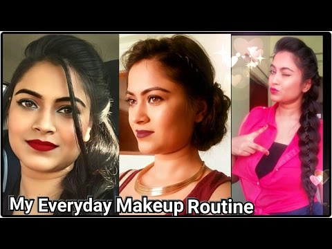 My everyday MAKEUP ROUTINE // Basic Makeup/foundation tutorial for indian/olive/tan/brown skin tone