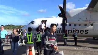 Fly on Philippine Airlines Q300 From Manila to Boracay (Caticlan) Philippines - Complete Trip