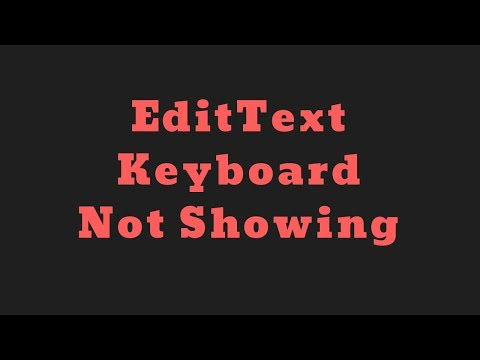 how to set edittext keyboard not showing in android