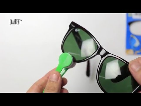 Sun Glasses Eyeglass Microfiber Cleaning Brush Cleaner from GearBest.com