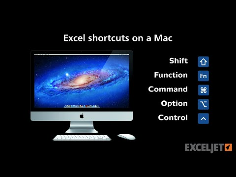 Excel shortcuts on the Mac - key differences