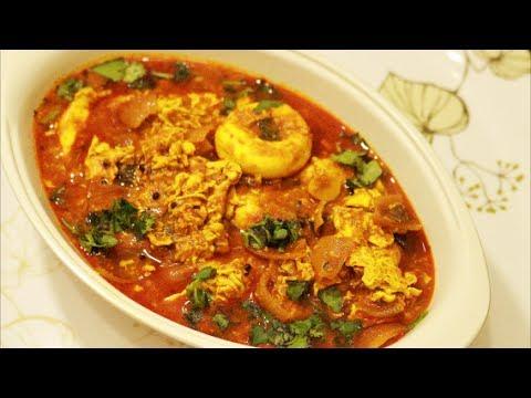 Udaitha Muttai Kulambu Recipe-Poached Egg Curry Recipe-Egg Drop Curry Recipe