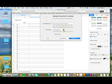 Sharing files with iCloud