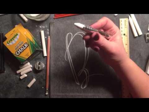 SheShe Design Chalk Script Lettering UPPERCASE B