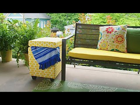 Turn a Cooler Into a Storage Table - DIY Network