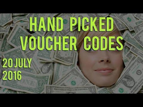Voucher Codes - Wednesday 20th July, 2016