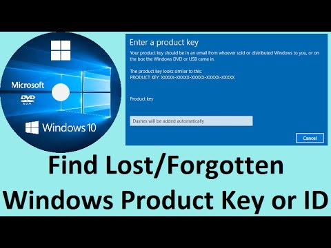 How To Find Lost/Forgotten Windows Product Key or ID