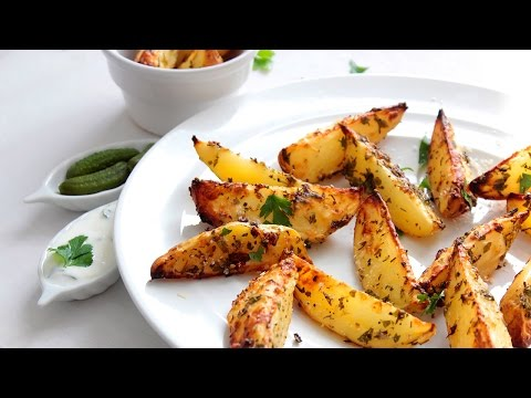 Potatoes wedges easy recipe (Oven baked cheesy popatoes)