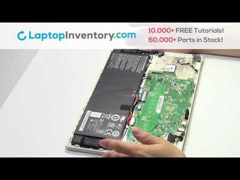 How to replace Laptop Wifi Card Acer Chromebook CB3. Fix, Install, Repair C730 NSK-RB0SQ