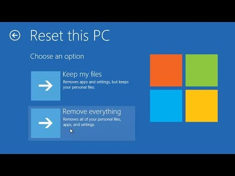 Restore Windows 10 to Factory Settings Without Disc - Laptop, Tablet, Surface, Desktop, Convertible