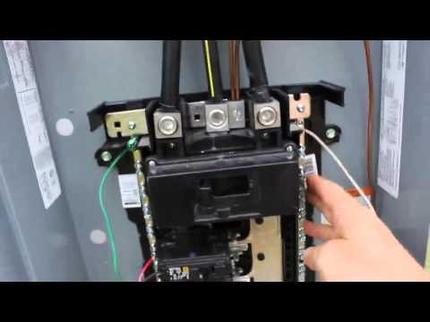 DIY Electrical Service Installation with 200 Amp main breaker