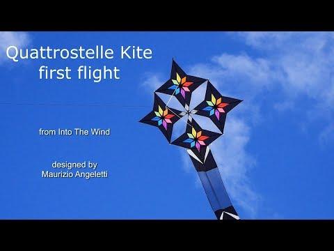 Stunning Quattrostelle kite - first flight