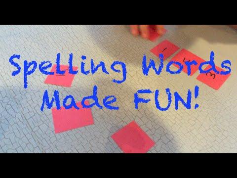 4 Fun Ways To Practice Spelling Words