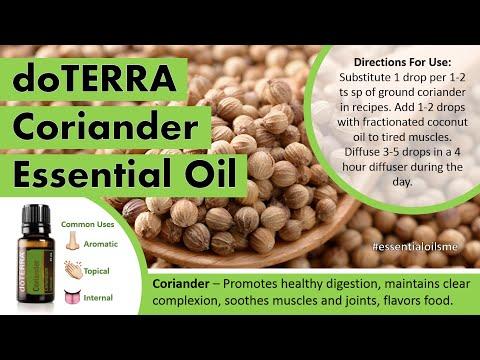 Marvelous doTERRA Coriander Essential Oil Uses