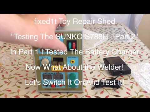 SUNKO S788H Battery Spot Welder In A House Testing Part 2