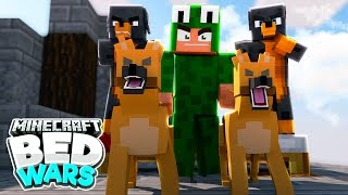Minecraft Bed Wars - GUARD DOGS DEFEND THE BED!