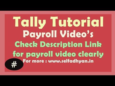 Payroll in tally ERP 9 in Hindi ( Payroll calculation in Tally)- PAYSHEET/ATENDANCE SHEET IN TALLY
