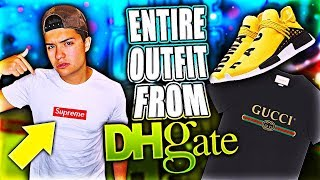 I BOUGHT AN ENTIRE HYPEBEAST OUTFIT FROM DHGATE!! (WEARING IT TO THE MALL)