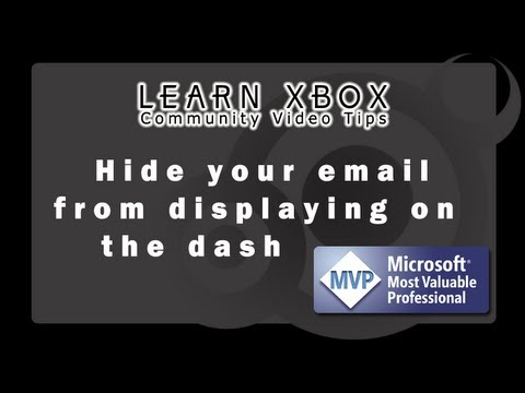 Learn Xbox - Hide email from dashboard