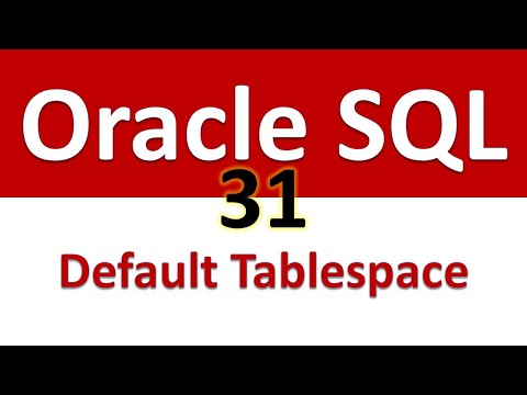 Oracle SQL Developer Tutorial For Beginners   31   DBA Info   Default Permanent Tablespace