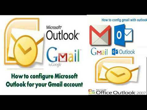 configure microsoft outlook 2007 with gmail account |setup very eazy | pop3 and imap