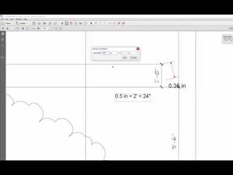 How to change and use scale ratio in Adobe Acrobat Pro