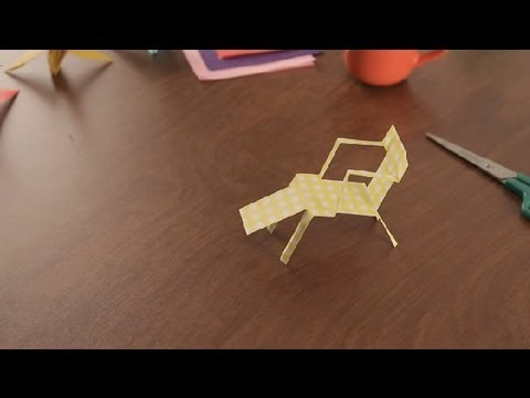 How to Make a Paper Deck Chair : Paper Art Projects