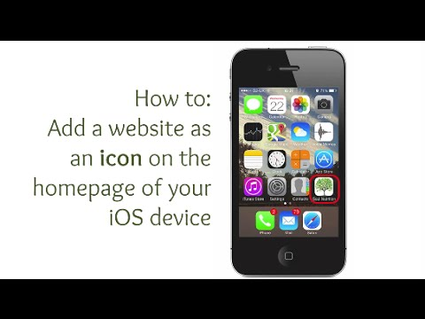 How to Add a Website Icon to the homescreen of iPhone and iPad
