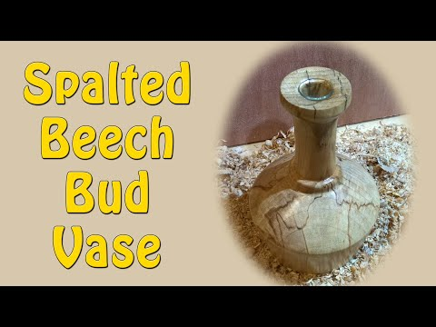 Spalted Beech Bud Vase - Episode 29