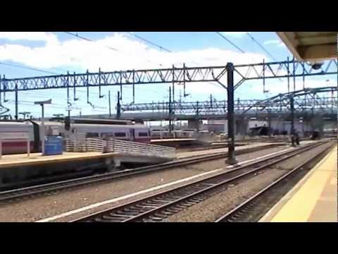 Passenger Train Action at New Haven Union Station 9-15-12