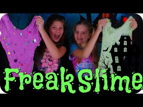 CRAZY SLIME || GIANT HALLOWEEN FLUFFY SLIME || Taylor and Vanessa