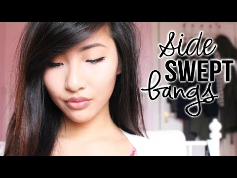How To Cut Side Swept Bangs/Fringe | Emily Liu