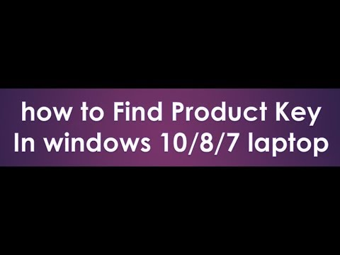 how to find product key in windows 10 laptop 2018