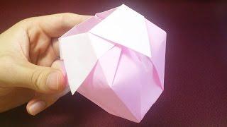 How To Make Origami Flower Vase