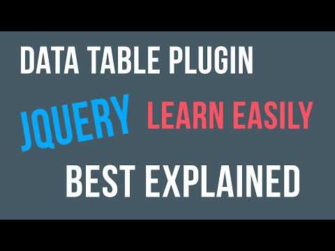 Jquery Datatable Plugin Tutorial for Beginners