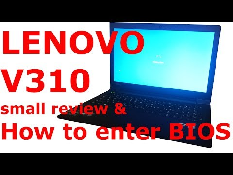lenovo V310 how to access bios + small review