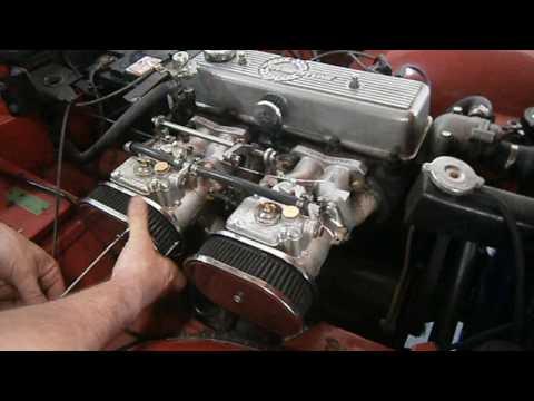 carburateur weber dcoe double corps tr4 triumph