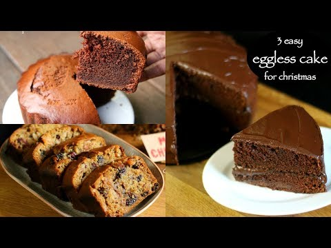 3 easy christmas cake recipes | chocolate cake recipe, plum cake recipe, cooker cake