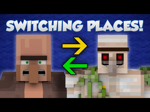 If Villagers And Iron Golems Switched Places - Minecraft