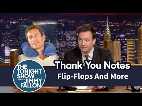 Thank You Notes: Flip-Flops, Cookie Dough