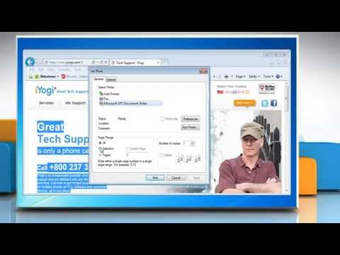 How to print  parts of a webpage in Internet Explorer® 9